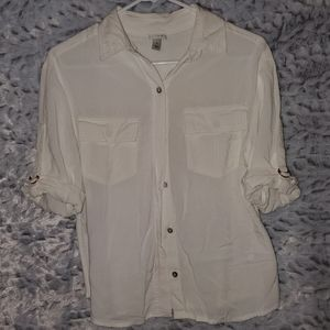 3/4 Button Classic Button Down Shirt
